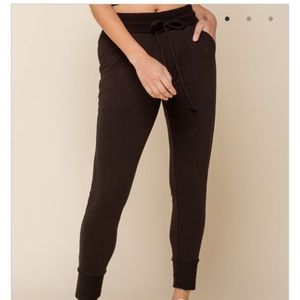 Free people movement black sunny joggers size xs